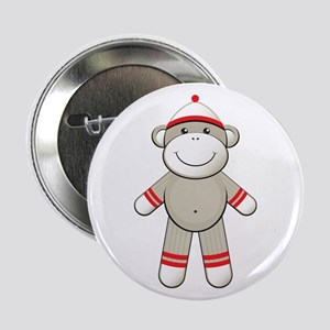 """Red Sock Monkey 2.25"""" Button"""