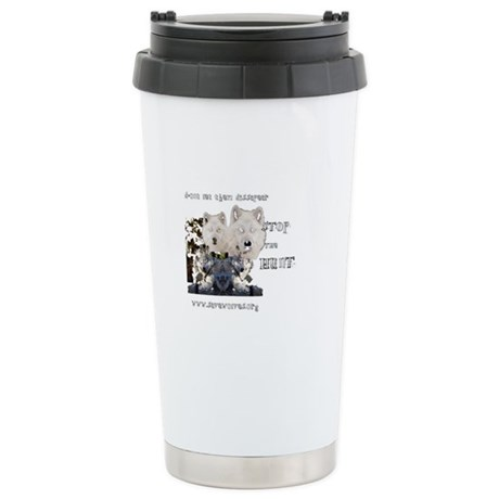 Stop The Hunt Stainless Steel Travel Mug