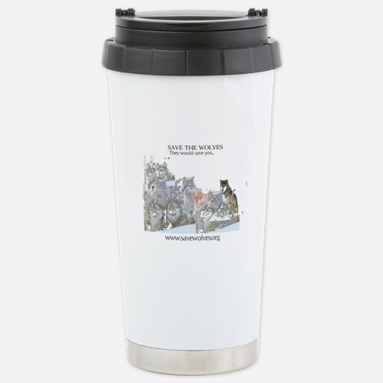 Save Wolves Stainless Steel Travel Mug