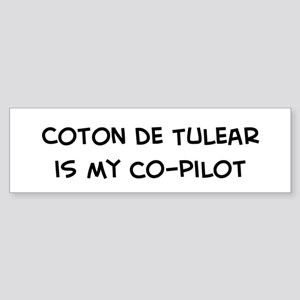 Co-pilot: Coton de Tulear Bumper Sticker
