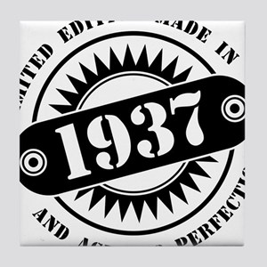 LIMITED EDITION MADE IN 1937 Tile Coaster