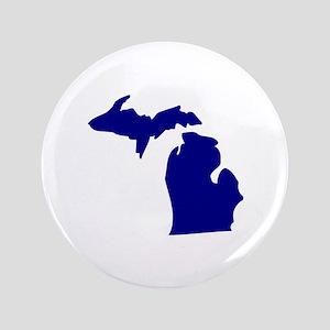 """Michigan 3.5"""" Button"""