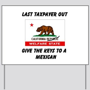 TAXPAYERS ARE RUNNING AWAY! - Yard Sign