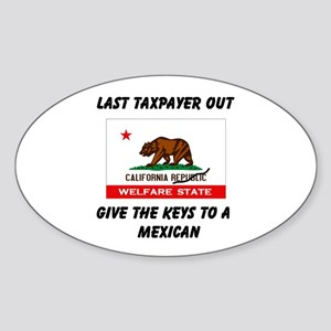 TAXPAYERS ARE RUNNING AWAY! - Sticker (Oval)
