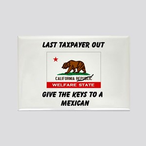 TAXPAYERS ARE RUNNING AWAY! - Rectangle Magnet
