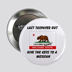 "TAXPAYERS ARE RUNNING AWAY! - 2.25"" Button"