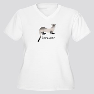 Black-footed Ferret Women's Plus Size V-Neck T-Shi