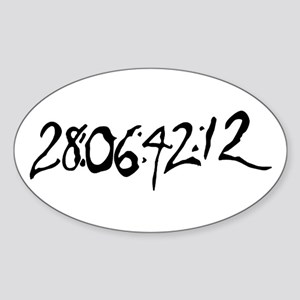 End Of World Sticker (Oval)