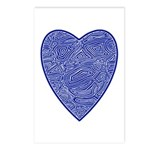 Blue Heart Postcards (Package of 8)