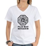 Hydra Polar Bear Research Women's V-Neck T-Shirt