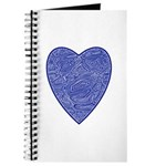 Blue Heart Notepad