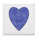 Blue Heart Tile Coaster