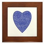 Blue Heart Framed Tile