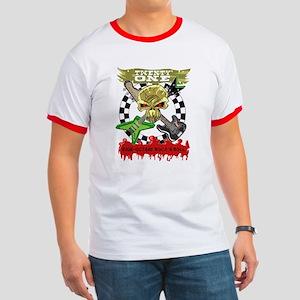 Twenty-One Crossbones Logo Ringer T-Shirt