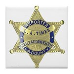 District Attorney Reporter Tile Coaster