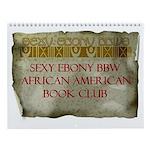 Sexy Ebony BBW AA Book Club Wall Calendar