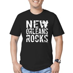 New Orleans Rocks Men's Fitted T-Shirt (dark)
