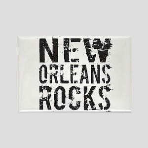 New Orleans Rocks Rectangle Magnet