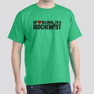 My Heart Belongs To A Biochemist Dark T-Shirt