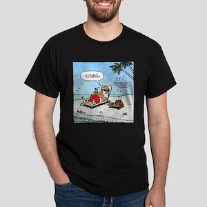 Santa on the Beach Dark T-Shirt
