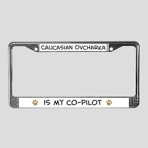 Co-pilot: Caucasian Ovcharka License Plate Frame