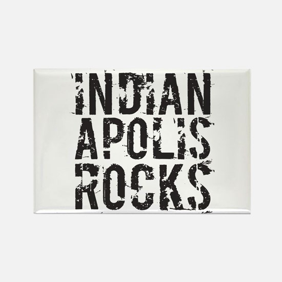 Indianapolis Rocks Rectangle Magnet