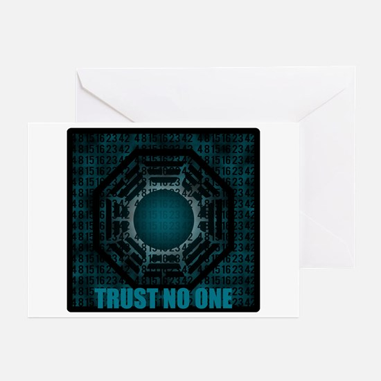 Trust No One Dharma Numbers Greeting Cards (Pk of