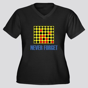 Never Forget Connect Four Women's Plus Size V-Neck