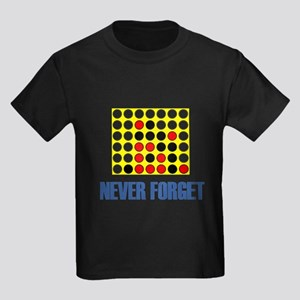 Never Forget Connect Four Kids Dark T-Shirt