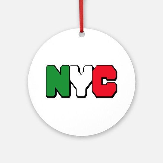 New york Italian Ornament (Round)