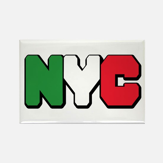 New york Italian Rectangle Magnet
