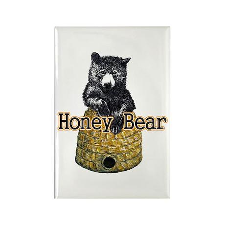 Honey Bear Rectangle Magnet