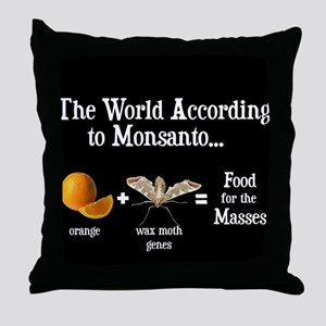GM Foods Throw Pillow