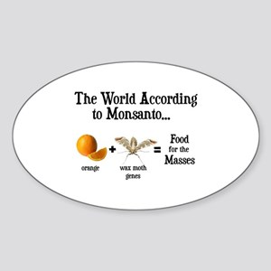 GM Foods Sticker (Oval)