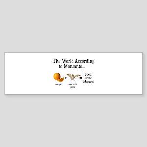 GM Foods Sticker (Bumper)