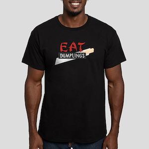 CRAZYFISH eat dumplings Men's Fitted T-Shirt (dark