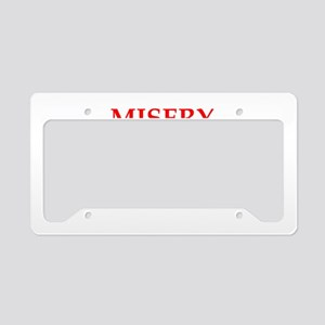 misery License Plate Holder