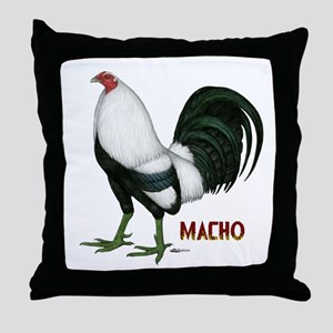Macho Duckwing Gamecock Throw Pillow