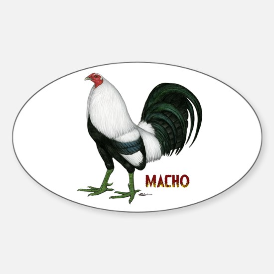 Macho Duckwing Gamecock Sticker (Oval)