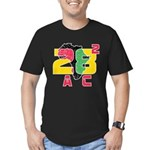 28 Squared AC Men's Fitted T-Shirt (dark)