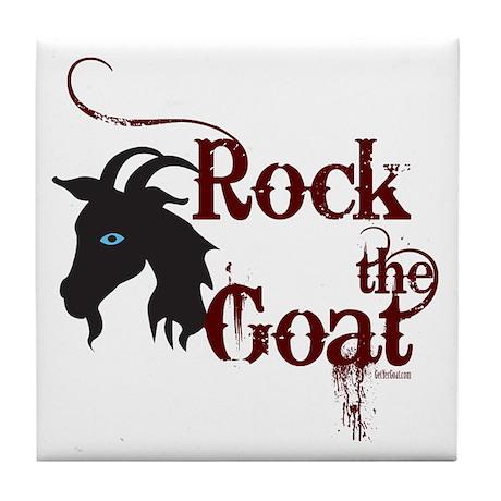 Rock the Goat Tile Coaster