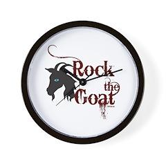 Rock the Goat Wall Clock