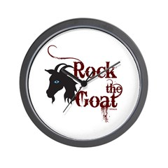 Rock the Goat Wall Clock