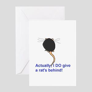Rat's Behind Greeting Card