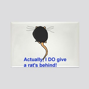Rat's Behind Rectangle Magnet