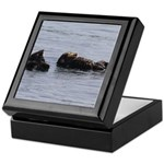 Sea Otters with Baby Keepsake Box