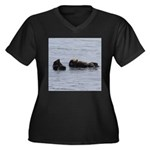 Sea Otters with Baby Plus Size T-Shirt