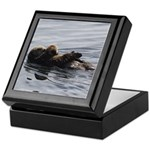Mother and Baby Otter Keepsake Box