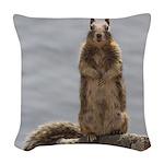 California Ground Squirrel Woven Throw Pillow