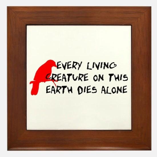 Dies Alone Framed Tile